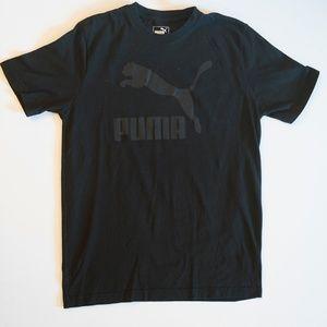 PUMA S/S BLACK ON BLACK T-SHIRT SIZE M